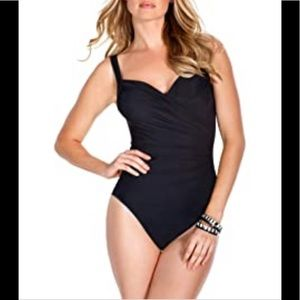 Miraclesuit | Black One Piece Riviera Lycra Ruched